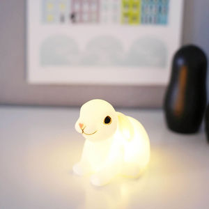 Woodland Rabbit LED Night Light - easter home