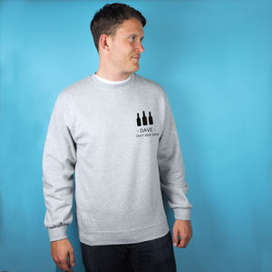 Personalised 'Craft Beer Snob' Sweatshirt