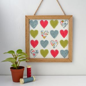 Felt And Liberty Fabric Framed Hearts - limited edition art