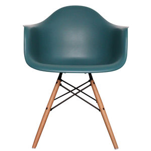 Eames Style Daw, Arm Chair. Deep Colours, 20+ Colours - dining room