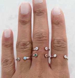 Duo Swarovski Crystal Ring Adjustable - rings