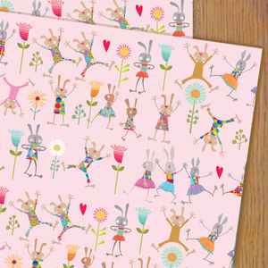 Bouncy Rabbit Wrapping Paper