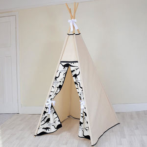 Monochrome Dino Teepee - tents, dens & teepees