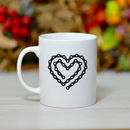 'Bike Chain Heart' Ceramic Bike Mug