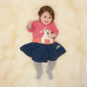Husky Polar Bear Knitted Baby Jumper - cosy clothing