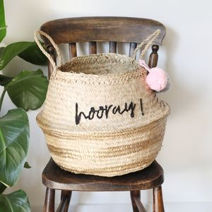 House Of Disaster Casa 'Hooray' Seagrass Basket - nature's nursery