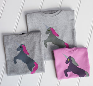 Mum And Child Unicorn T Shirt Set - mother & child sets