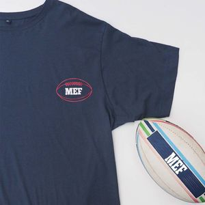 Monogram In A Rugby Ball Personalised T Shirt
