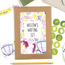 Personalised Princess Children's Letter Writing Set