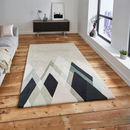 'Stand Tall' Geometric Wool Rug