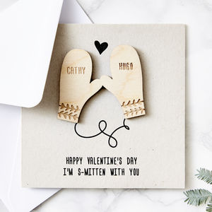 Personalised Smitten Valentine's Day Card - cards & wrap