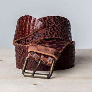 Reuben Leather Belt - summer sale