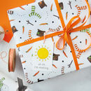Melted Snowman Wrapping Paper Set