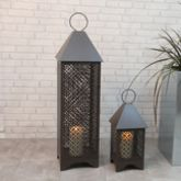 Personalised Patterned Metal Garden Lantern - garden