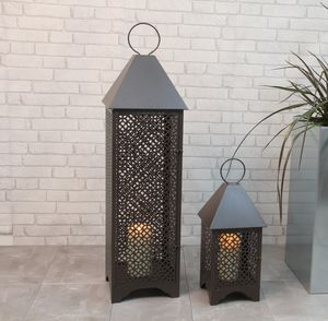 Personalised Patterned Metal Garden Lantern - garden accessories