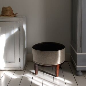 Vintage Sheepskin Footstool