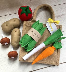 Pretend Play Felt Food Vegetable Collection - toys & games