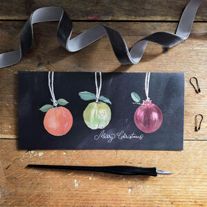 'Fruit Bauble' Christmas Greeting Card