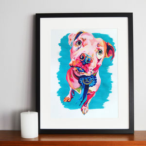 Personalised Painted Pet Portrait - canvas prints & art