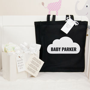Personalised Baby Shower Gift Cloud Hospital Bag