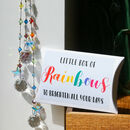 Rainbow In A Box Crystal Suncatcher With Star