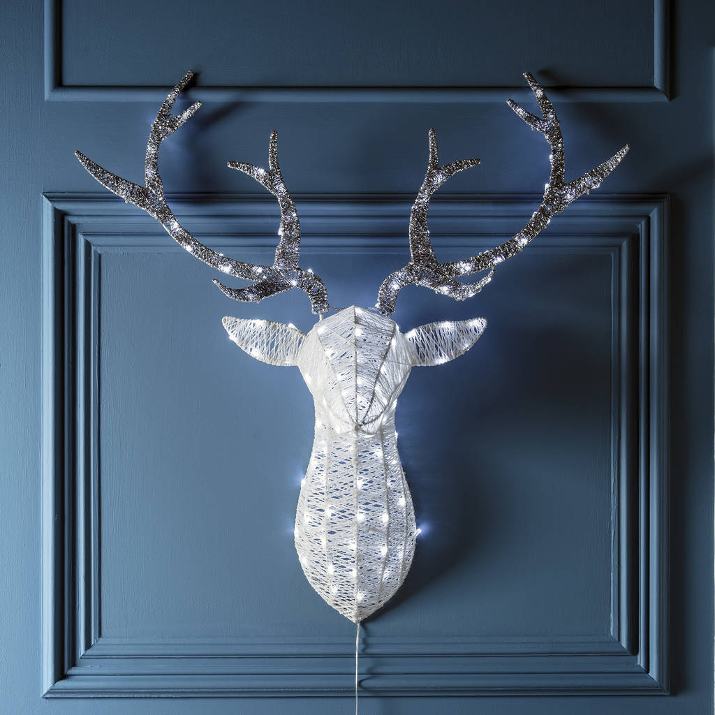 Sparkly Light Up Stag Head By Lights4fun Notonthehighstreet Com