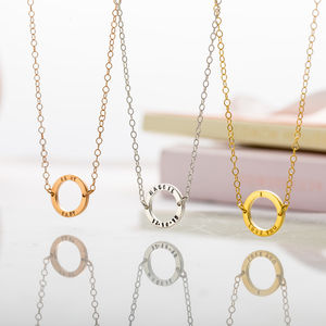Personalised Mini Geometric Circle Necklace - gifts for mothers