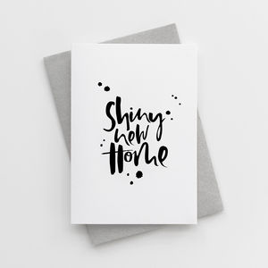 'Shiny New Home' New Home Card