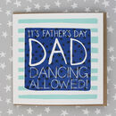 Father's Day Card Dad Dancing Theme