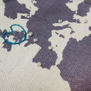 Diy Embroidery Map Of The World Silhouette Wall Hanging