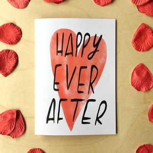 Happy Ever After Card - anniversary cards