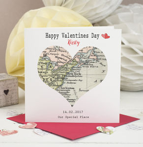 Special Location Heart Map Card - wedding cards & wrap