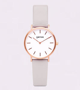 Petite Rose Gold Vegan Leather Watch - men's accessories