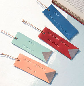 Personalised Leather Book Mark - gifts for him