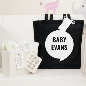 Personalised Baby Shower Gift Quest Hospital Bag