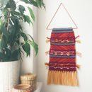 Knitted Tapestry Wall Hanging With Tassels
