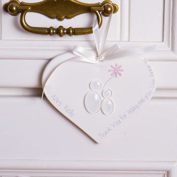 Personalised Teacher Hanging Keepsake