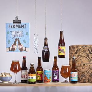 Mixed Case Of Eight Craft Beers And Ferment Bookazine - gifts for him