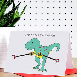 I Love You This Much Valentine's Day Greeting Card - valentine's cards