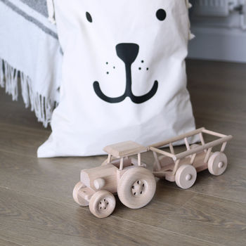 Wooden Tractor Toy Luxe Edition
