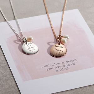 Personalised Pearl Necklace - 1st mother's day