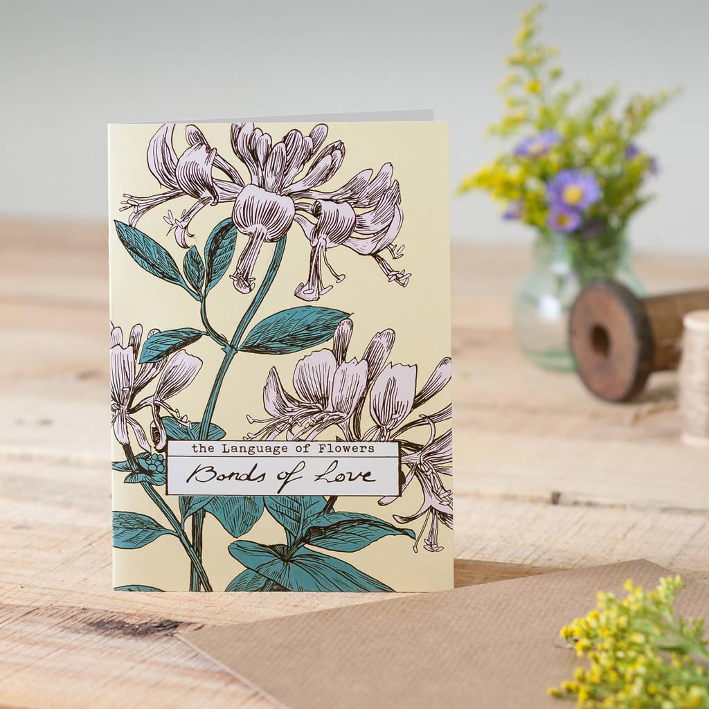 'Bonds Of Love' Honeysuckle Card