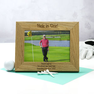 Personalised Golf Hole In One Photo Frame - home accessories
