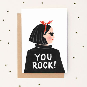 'You Rock!' Greeting Card