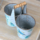 Oiseau Bleu Twin Pot Planter