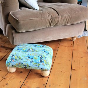 Spring Print Foot Stool - floor cushions & beanbags