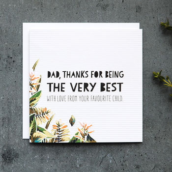 Funny Father's Day Card 'The Very Best'