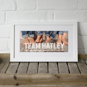 Personalised Team Family Photo Print