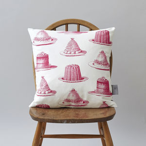 Raspberry Jelly And Cake Cushion