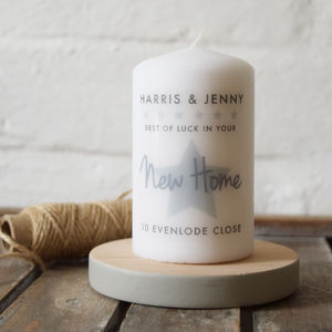 Personalised New Home Candle Gift - candles & home fragrance